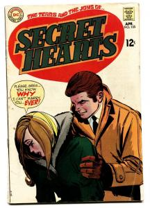 SECRET HEARTS #135 comic book-1969-Great cover DC ROMANCE