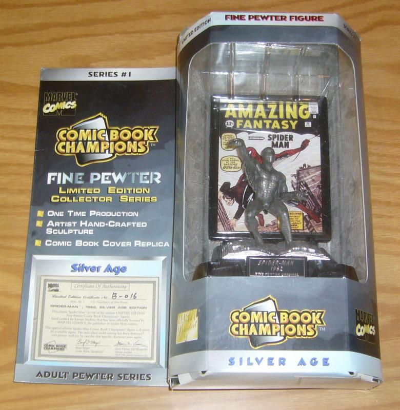 Comic Book Champions Adult Pewter Series #1 amazing spider-man w/COA in box