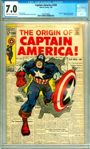 Captain America 109 CGC Graded 7.0 Origin Retold