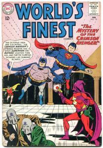 WORLDS FINEST #131 1963-CRIMSON AVENGER-BATMAN-SUPERMAN VG