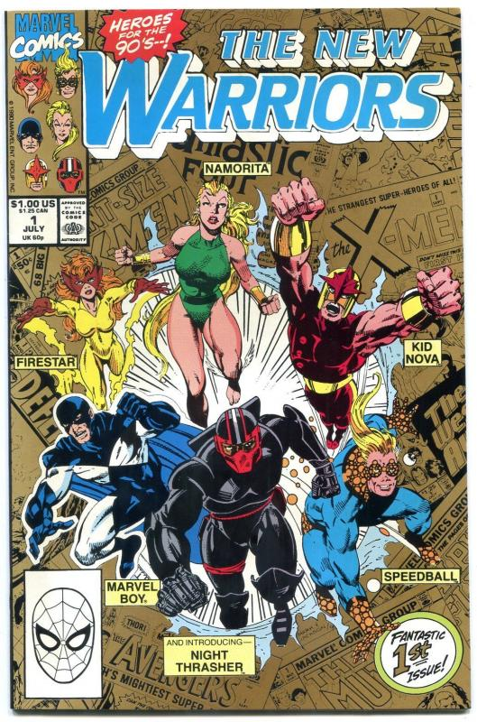 The New Warriors #1 1990- Second Printing- Night Thrasher- NM-