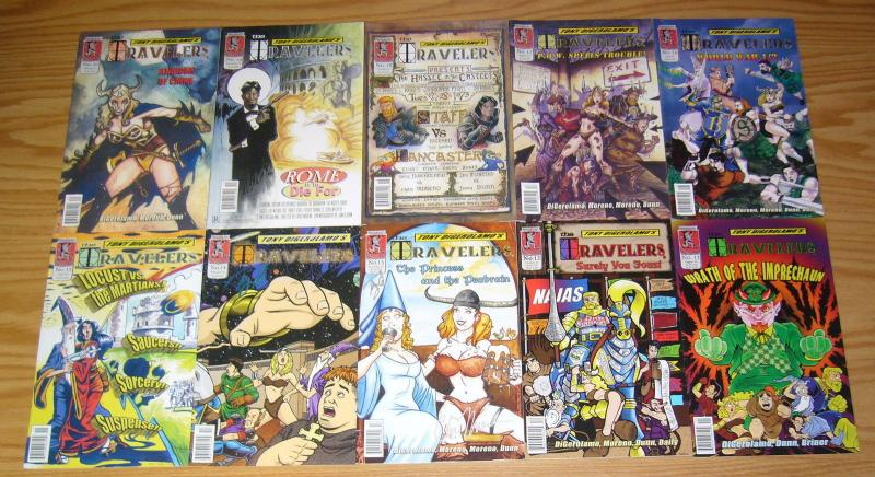 Tony DiGerolamo's Travelers #1-25 complete series - kenzer - fantasy  signed set