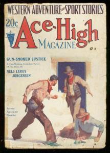 ACE-HIGH MAGAZINE 2nd SEPT 1929-WESTERN & SPORTS PULP VG-