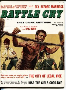 BATTLE CRY Dec/1961-NAZI woman tortures a GI on cover-Wild Spicy Mag