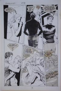 GRAY MORROW original art, POWERLINE #7 pg 14,11x17, 1989, more art in store