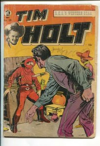 Tim Holt #28-1952-Superior -Canadian variant-Ghost Rider horror story Headle...