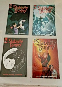 Lot of 4 Stabbity Bunny # 5A 6A 7 8 Scout Comics 2018 VF NM