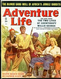 Adventure Life Magazine January 1959- Blonde Gang Moll of Africa Jungle Bandits