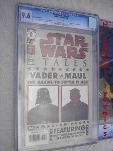 STAR WARS TALES #9, Darth Vader vs Maul, CGC = 9.6, NM+