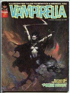 Vampirella #11-Warren-horror-Frank Frazetta-1st Pendragon-Cockrum-1971