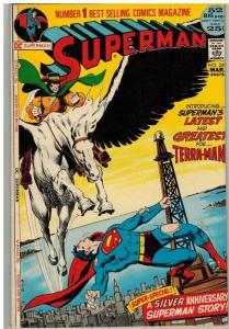 SUPERMAN 249 VG-F Mar. 1972 Neal Adams story