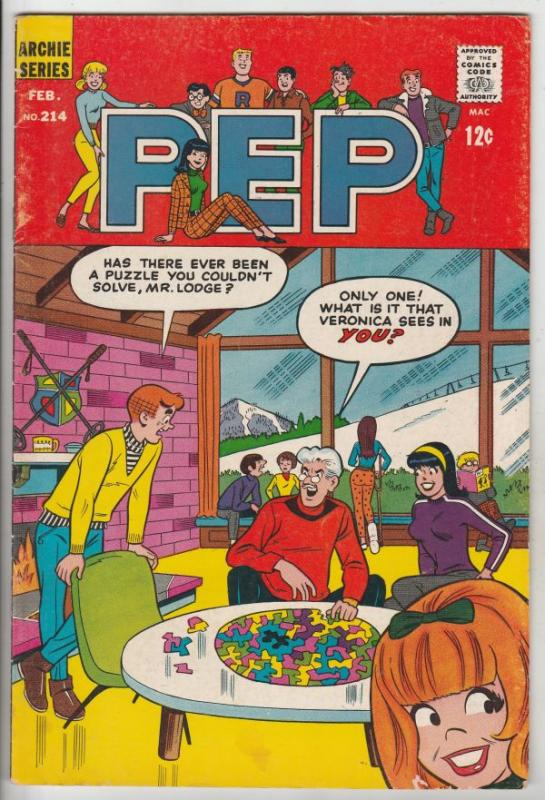 Pep An Archie Magazine #214 (Feb-68) FN/VF+ High-Grade Archie