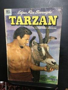 Tarzan #40 (1953) Affordable-grade Barker photo cover VG Wow!