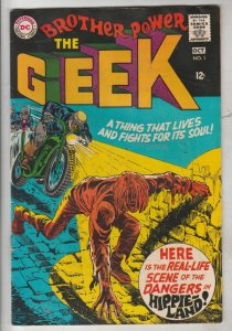 Brother Power the Geek #1 (Oct-68) VG+ Affordable-Grade Brother Power the Geek