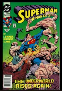 Superman Man of Steel #17 1st Doomsday Cameo (Nov 1992, DC)  7.5 VF-
