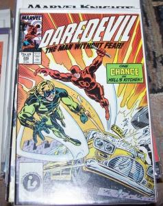 Daredevil comic # 246 (Sep 1987, Marvel) chance hells kitchen matt murdoc netfli