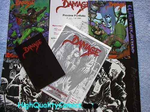 DAMAGE Portfolio, Limited, #293/1000, Ordaz, Bloodshed, more Portfolios in store
