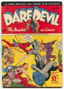 Daredevil Comics #34 1946-FRANKENSTEIN- golden age