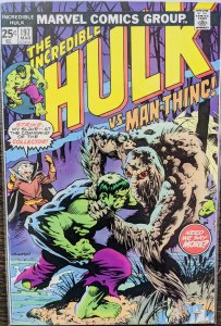The Incredible Hulk #197 -  Hulk vs Man-Thing! MCU Key! Iconic Cover! Low Print!