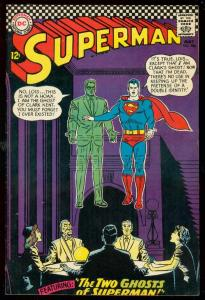 SUPERMAN #186 1966-DC COMICS-SEANCE COVER-GHOSTS VF