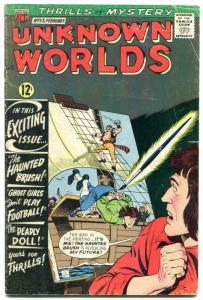 Unknown Worlds #53 1967- ACG Silver Age- Frankenstein VG+