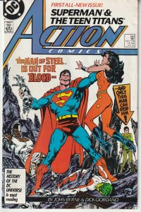 Action Comics(Vol. 1) # 584 Superman and The New Teen Titas