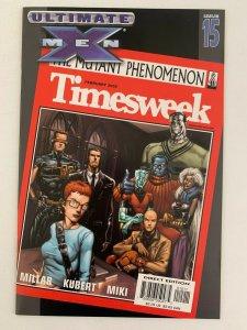 Ultimate X-Men #15 Timesweek (2001 Marvel Comics) NM