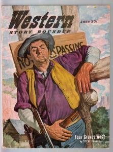 Western Story Roundup 6/1951-Popular-final issue-Steve Frazee-Clark Gray-FN