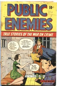 PUBLIC ENEMIES #3-1948-EARLY PRE-CODE CRIME-VIOLENCE-TATTOO-MURDER-MYSTERY