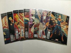 Captain Marvel 1-10 125-127 Lot Run Set Near Mint Nm Marvel