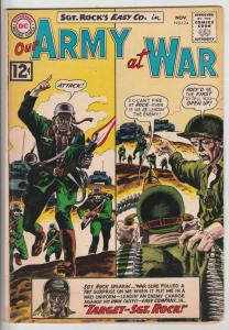 Our Army at War #124 (Nov-62) FN+ Mid-High-Grade Easy Company, Sgt. Rock