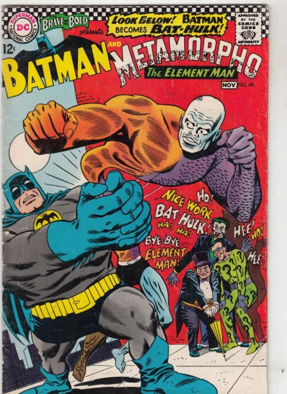 Brave and the Bold, The #68 (Nov-66) FN- Mid-Grade Metamorpho, Batman