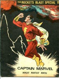 Rockets Blast Special #8 1972-CFCA-Capt Marvel tribute-Don Newton-origin-FN