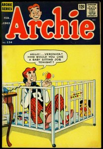 Archie Comics #134 1963- Betty & Veronica- Gag cover- G