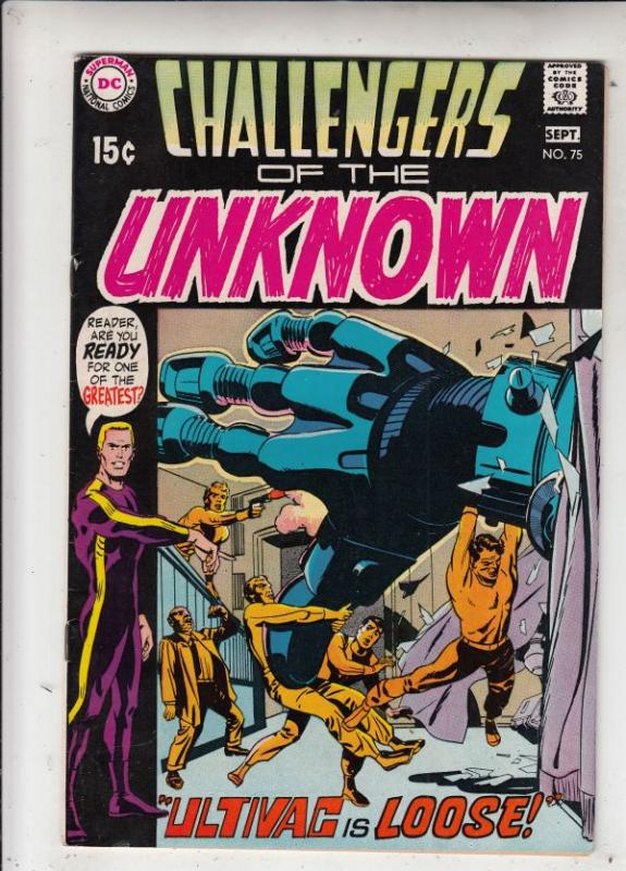 Challengers of the Unknown #75 (Sep-70) VF/NM High-Grade Challengers of the U...
