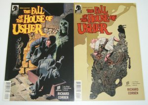 Edgar Allan Poe's Fall of the House of Usher #1-2 complete series richard corben
