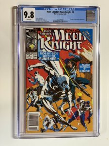 Marc Spector Moon Knight 9 Cgc 9.8 Wp Marvel Newsstand Edition