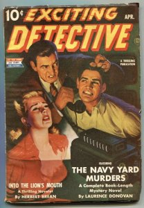 Exciting Detective Pulp April 1943- Navy Yard Murders F/VF