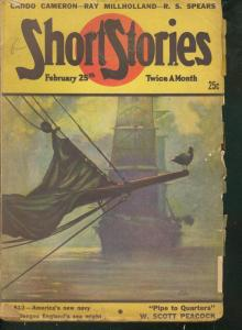 SHORT STORIES PULP 1947 FEB 25 HUGH B CAVE  PULP STORY G