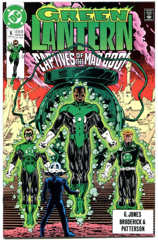 GREEN LANTERN #6,Guy Gardner,Hal Jordan,1990,Gods, NM+