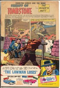 Sheriff of Tombstone #1 1960-Charlton-Wild Bill Hickock-P