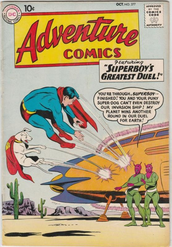 Adventure Comics #277 (Oct-60) FN/VF+ High-Grade Superboy