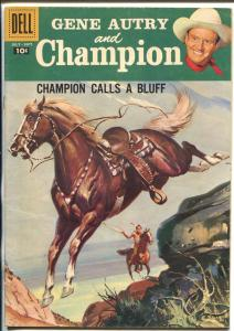 Gene Autry and Champion #119 1958-Dell-Savitt cover-title change-FN+
