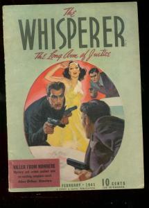 WHISPERER PULP FEB 1941 GOOD GIRL ART STREET & SMITH FN
