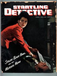 STARTLING DETECTIVE MAY 1946-BABE LIFTS DEAD MANS WALLET!-PULP-TRUE CRIME FR