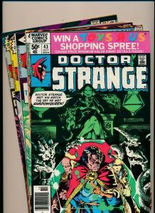 LOT of 5 Comics!  Marvel DOCTOR STRANGE #32,33,37,41,&43  F/VF (PF795)