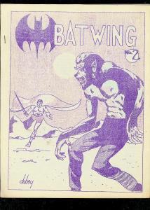 BATWING FANZINE #2-LARRY HERNDON-STREET & SMITH PULPS VF