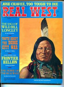 Real West  3/1970-Chief Rain In The Face-Earl Norem-Wild Bill Longley-VG/FN