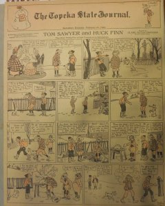 Tom Sawyer and Huck Finn Sunday by Clare Dwigs from 2/22/1920 FullPage Size B&R