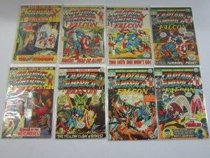 Captain America and The Falcon Comic Lot #150-222 (27 DIFF) 4.0 VG (1972 - 1978)